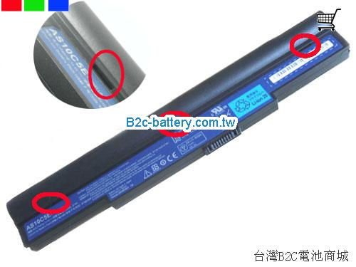 ACER 41CR19/66-2 Battery 6000mAh 14.8V Black Li-ion
