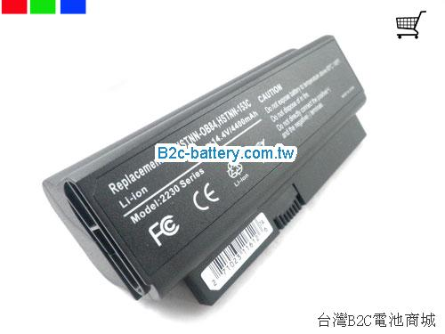 HP COMPAQ Business Notebook 2230s Battery 5200mAh, 63Wh  14.4V Black Li-ion